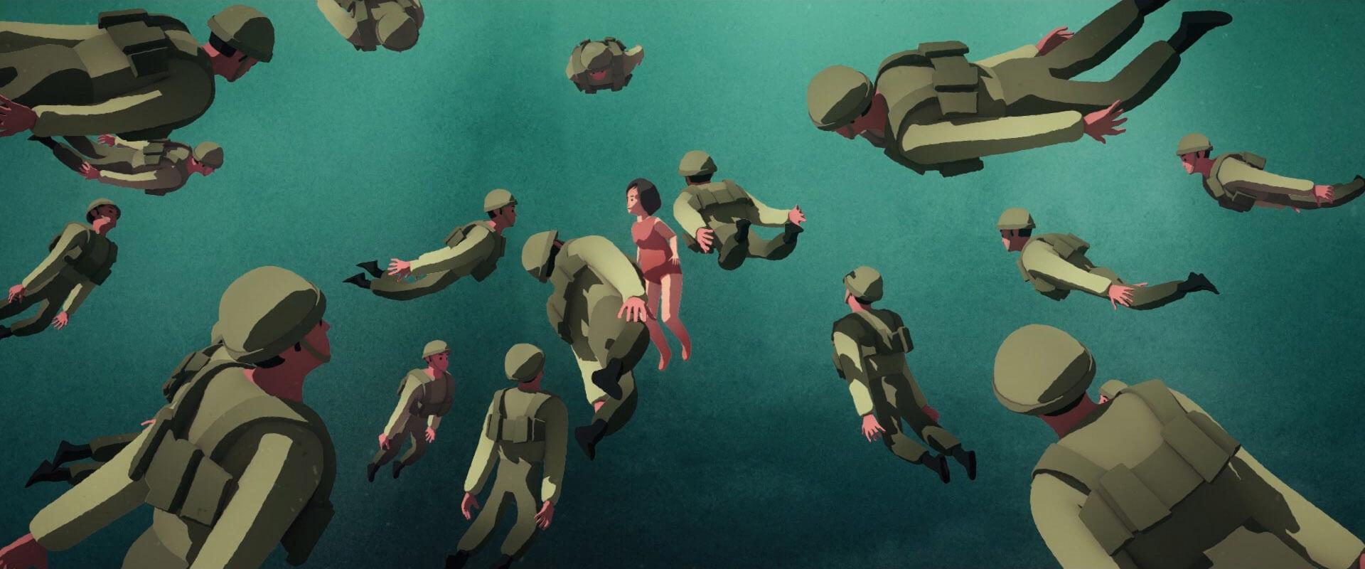 רותם שפירא, כולם כל כך שקטים פתאום, פרט, 2019, אנימציה