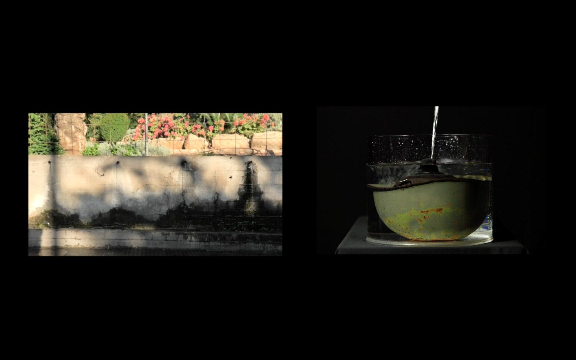 Ronen Zein, Drowning, 2020-2021, video diptych, 14 min, photograph
